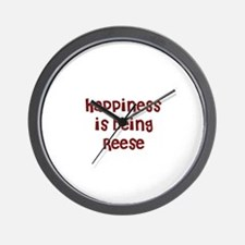happiness is being Reese Wall Clock
