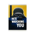 He's Watching You Rectangle Magnet (10 pack)