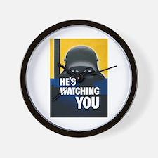He's Watching You Wall Clock