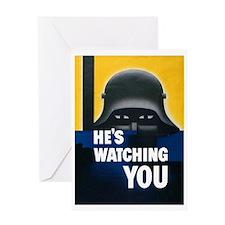 He's Watching You Greeting Card