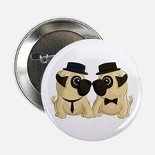 "Groom Pugs 2.25"" Button (100 pack)"