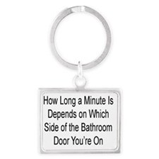 HOW LONG A MINUTE IS DEPENDS ON Landscape Keychain