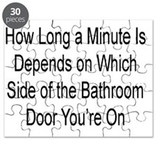 HOW LONG A MINUTE IS DEPENDS ON WHICH SIDE  Puzzle