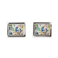 St Maarten Alley Rectangular Cufflinks