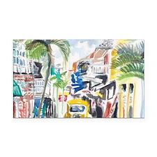 St Maarten Alley Rectangle Car Magnet