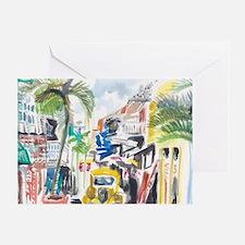 St Maarten Alley Greeting Card