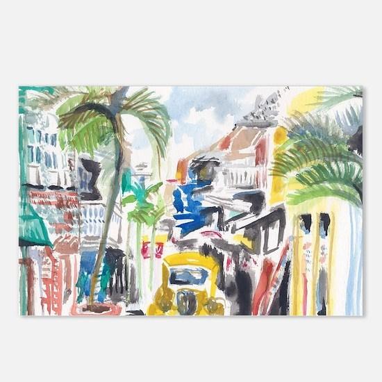 St Maarten Alley Postcards (Package of 8)