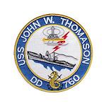 USS JOHN W. THOMASON Button