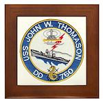 USS JOHN W. THOMASON Framed Tile