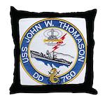 USS JOHN W. THOMASON Throw Pillow