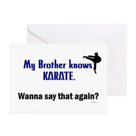 My Brother Knows Karate Greeting Cards (Pk of 10)