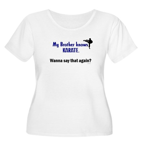 My Brother Knows Karate Women's Plus Size Scoop Ne