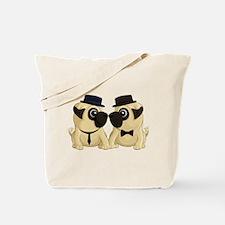 Groom Pugs Tote Bag