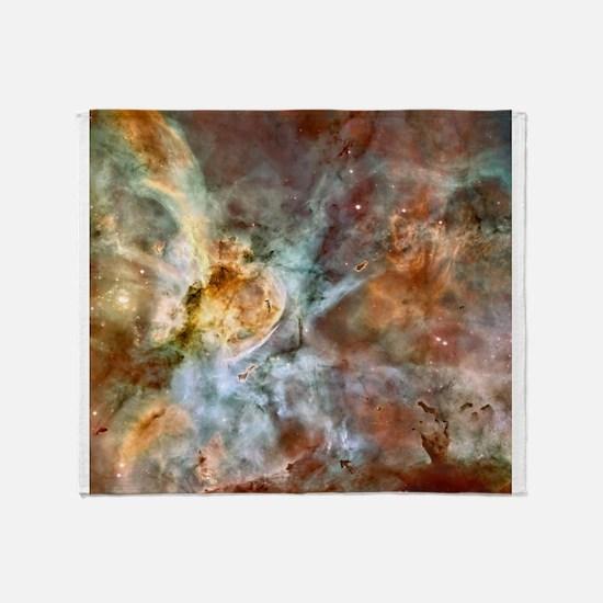 Hubble Telescope Carina Nebula Throw Blanket