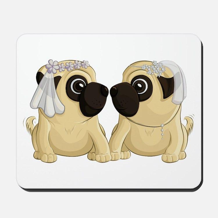 Pug Brides Mousepad