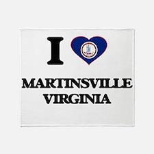 I love Martinsville Virginia Throw Blanket