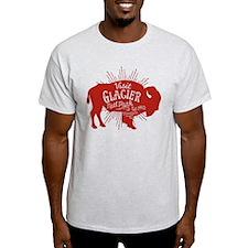 Glacier Buffalo Sunburst Red T-Shirt