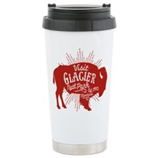 Glacier Buffalo Sunburs Travel Mug