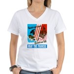 United We Stand (Front) Women's V-Neck T-Shirt