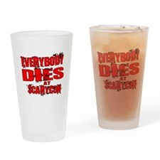 Everybody Dies at ScaryCon Drinking Glass