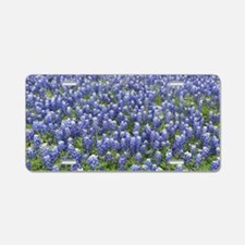 Bluebonnets Aluminum License Plate