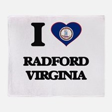 I love Radford Virginia Throw Blanket