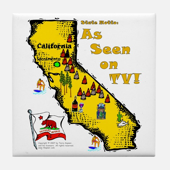 CA-As Seen! Tile Coaster
