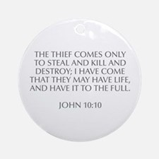 The thief comes only to steal and kill and destroy
