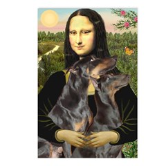 Mona's 2 Dobies Postcards (Package of 8)