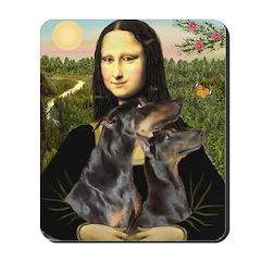 Mona's 2 Dobies Mousepad