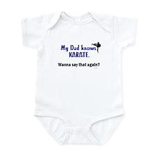 My Dad Knows Karate Infant Bodysuit
