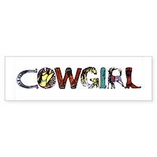 Cowgirl Bumper Bumper Sticker