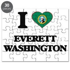 I love Everett Washington Puzzle