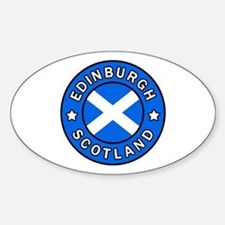 Edinburgh Sticker (Oval)