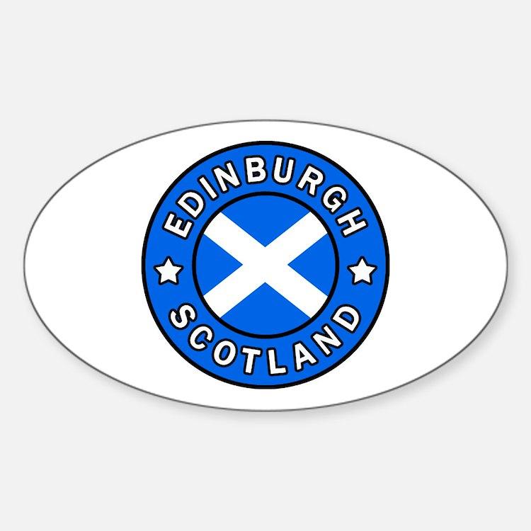 Edinburgh Sticker (Oval)