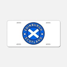 Edinburgh Aluminum License Plate