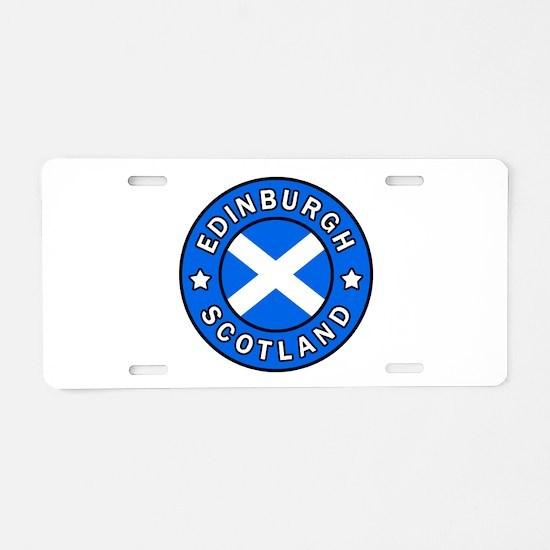 Edinburgh Aluminum License Plate