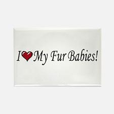 I Love My Fur Babies Magnets
