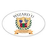 Wizard U Alchemy RPG Gamer HP Oval Sticker