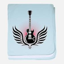 Cute Guitarist baby blanket
