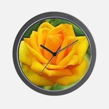 Funny Yellow rose Wall Clock