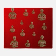 buddha in red Throw Blanket