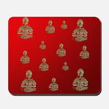buddha in red Mousepad