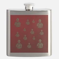 buddha in red Flask