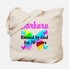 GOD LOVING 70TH Tote Bag