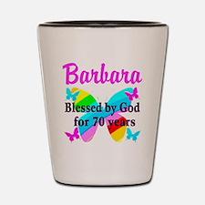 GOD LOVING 70TH Shot Glass