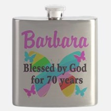 GOD LOVING 70TH Flask