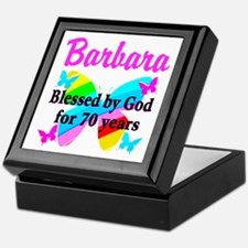 GOD LOVING 70TH Keepsake Box