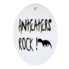 Anteaters Rock ! Oval Ornament