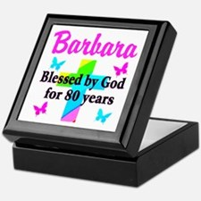 BLESSED 80 YR OLD Keepsake Box